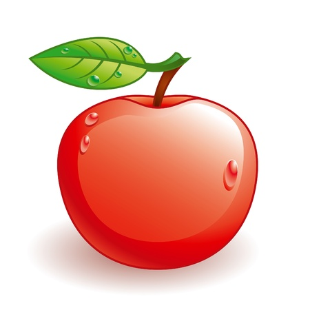 Vector glossy apple with some water drops Stock Vector - 10927887