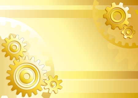 Vector technical background with gears Vector