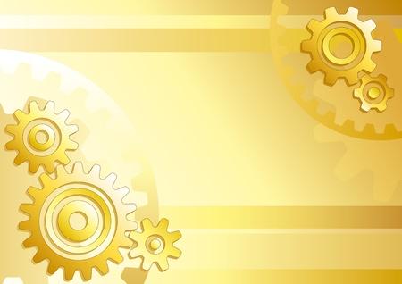 mechanical: Vector technische achtergrond met versnellingen Stock Illustratie
