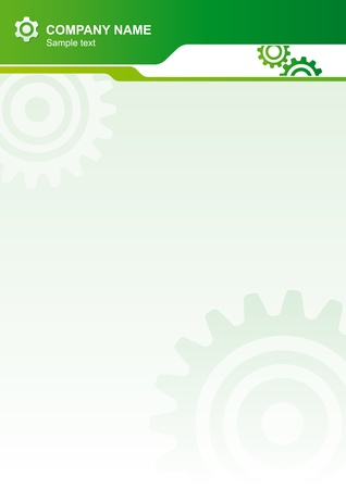 Abstract vector document background with gears