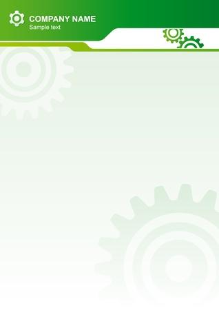 bijsluiter: Abstracte vector document achtergrond met versnellingen Stock Illustratie