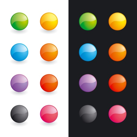 differently: Set of differently coloured glossy balls