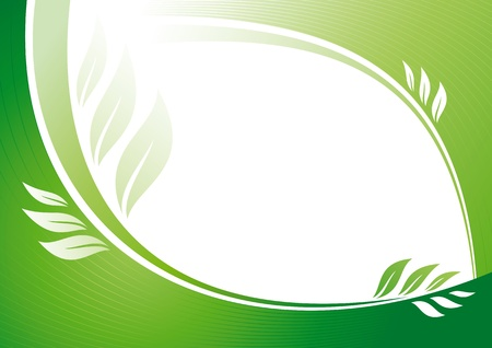 growing plant: Abstract green background with floral elements. Fully editable vector.