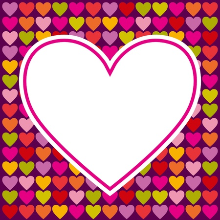 Vector background for Valentines day card