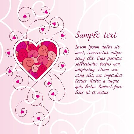 Romantic Valentine's day greeting card Stock Vector - 10928104