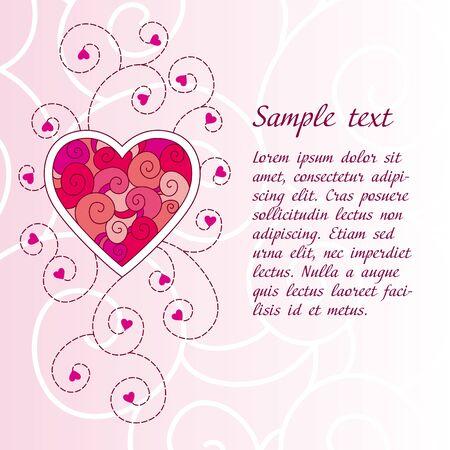Romantic Valentines day greeting card Illustration
