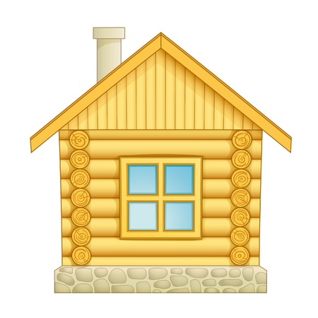 lodging: Log house icon.