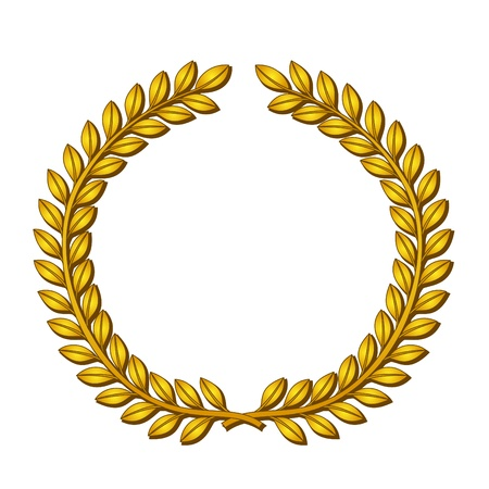 Golden wreath of laurels.