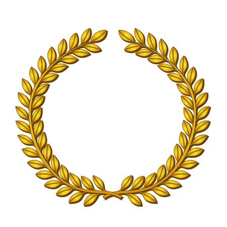 Golden wreath of laurels.  Stock Vector - 10928409