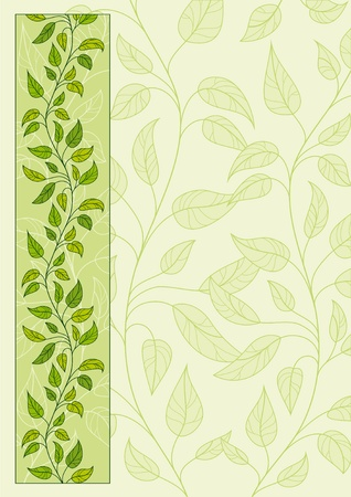 Decorative vector floral background page Vector