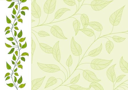 Horizontal decorative vector floral background Illustration