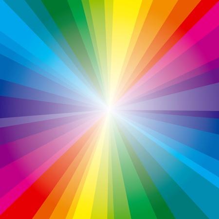mooie achtergrond: Kleurrijke achtergrond met spectrum stralen Stock Illustratie