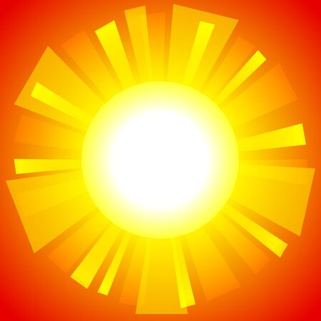 抽象的な太陽の背景。