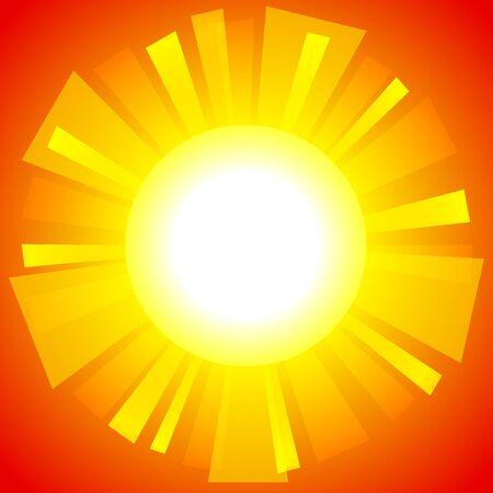 Abstract sun background.   Illustration
