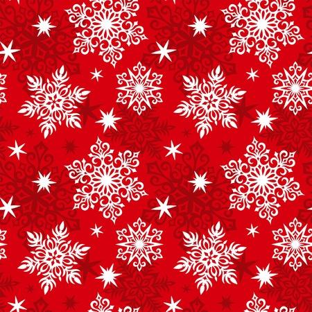 Copos de nieve patrón sin costuras. Color rojo Foto de archivo - 10928217
