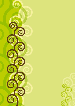 scrapbooking: Abstract background with spirals. EPS8 vector.