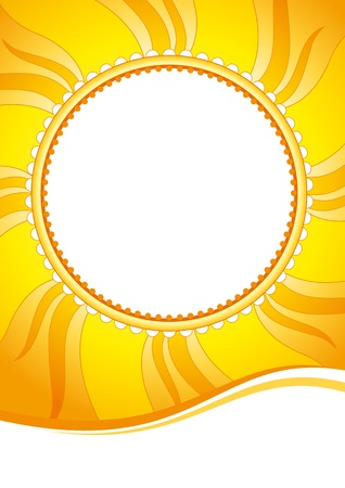 zenith: Decorative vector background with sun-shaped element Illustration