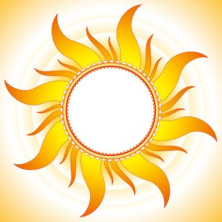 light beams: Decorative summer sunny vector background