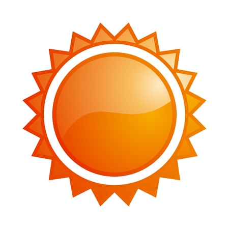 Vector glossy orange sun icon