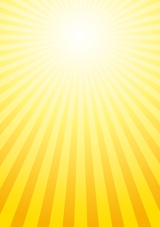 soleil rigolo: Vector background avec rayons de soleil
