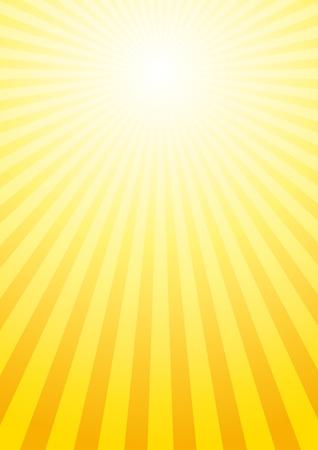 el sol: Vector de fondo con los rayos del sol