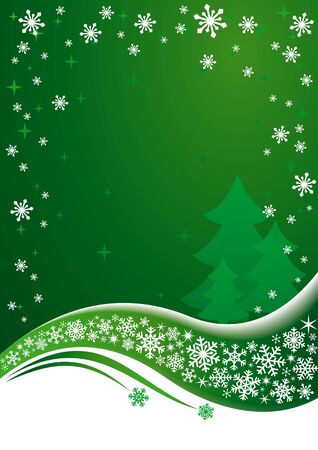 Green Christmas background. EPS8 vector. Vector