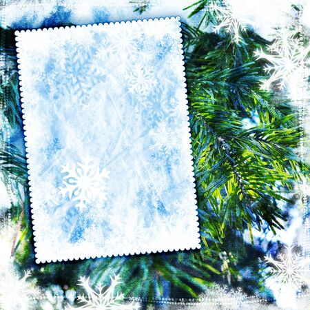 Vintage winter background with canvas texture Stock Photo - 10966246