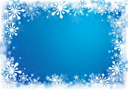 snowflake: Decorative Christmas background