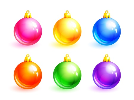 Set of Christmas balls Stock Vector - 11307031