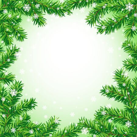 Kerstmis frame Stock Illustratie