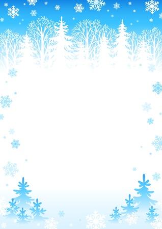 冬の森の背景