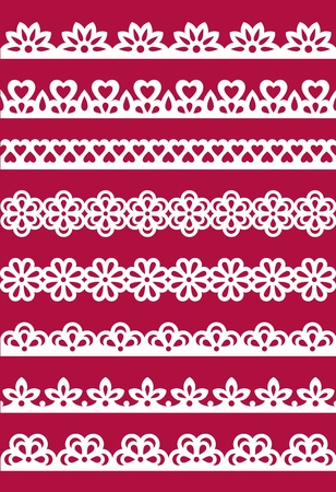 Set of different lace patterns. EPS8 Vector