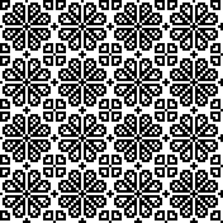 Geometrical flower seamless pattern. EPS8 Vector