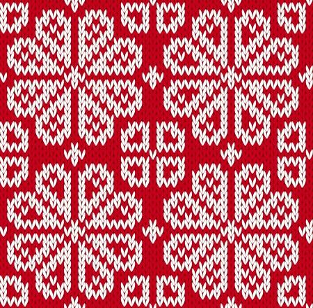 花とのシームレスなニット パターン。EPS8