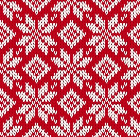 北欧のニットのシームレスなパターン。EPS8