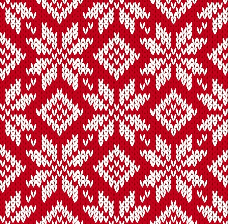 Nordic knitted seamless pattern. EPS8