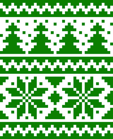 Seamless nordic pattern with stars and fir-trees  EPS8 Stock Vector - 24537417