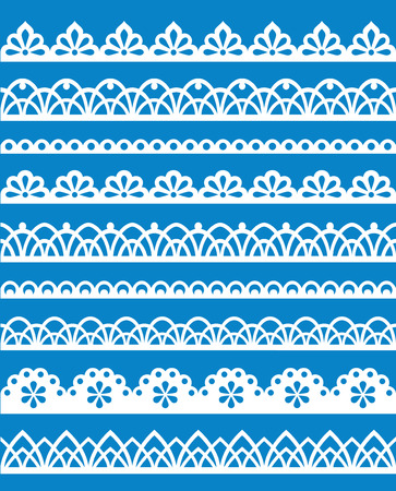flower age: Set of different lace patterns   Illustration
