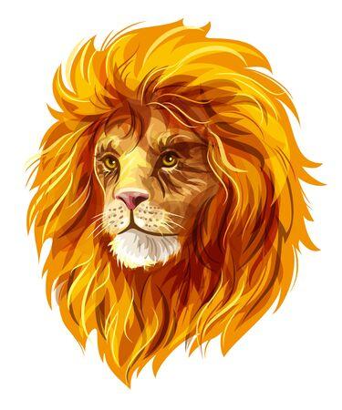 bushy: Head of a lion.