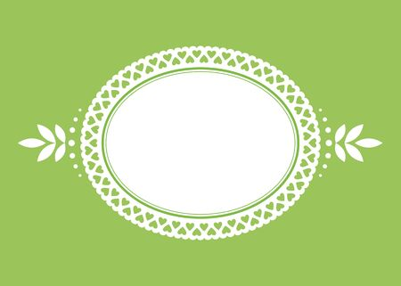Vector background vignette lace frame. EPS8