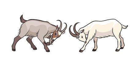 Golpeando cabras. Ilustración vectorial. EPS8 Ilustración de vector