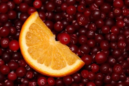 arandanos rojos: Rodaja de naranja y ar�ndanos.