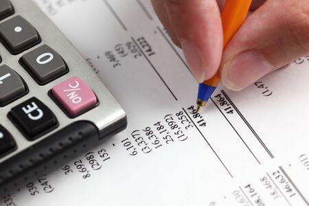 Analyzing financial statement.