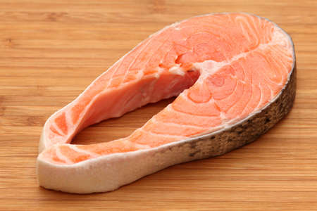 salmon steak: Fresh Salmon Steak. Stock Photo