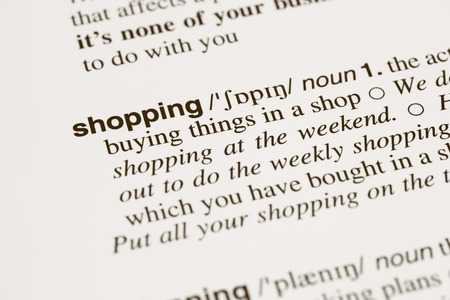 definition: Definition word shopping in dictionary