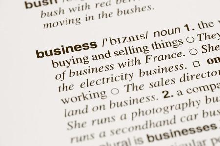 """definicion: Definici�n palabra """"negocio"""" en el diccionario Foto de archivo"""