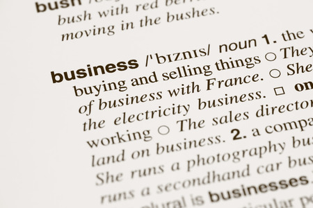 definition: Definition word business in dictionary