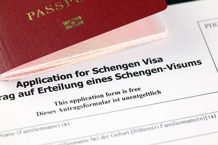 schengen: Application for Schengen visa and passport.