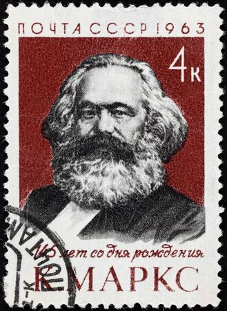 stamp collecting: USSR postage stamp Karl Marx. 145 years of the birth. USSR postage stamp 1963 year. Editorial