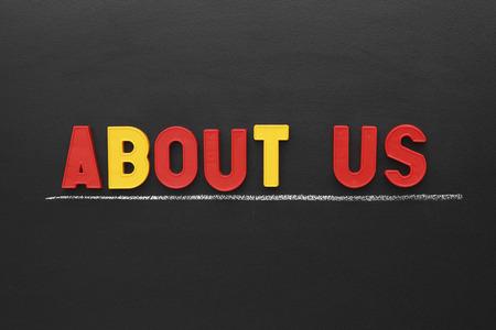 About Us on blackboard.